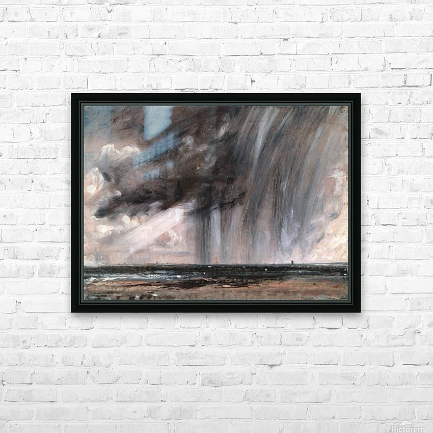 Rainstorm over the sea HD Sublimation Metal print with Decorating Float Frame (BOX)