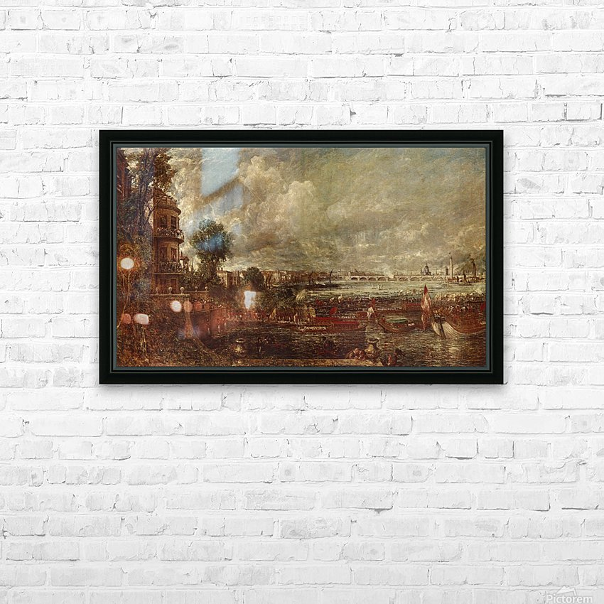 Landscape of a city HD Sublimation Metal print with Decorating Float Frame (BOX)