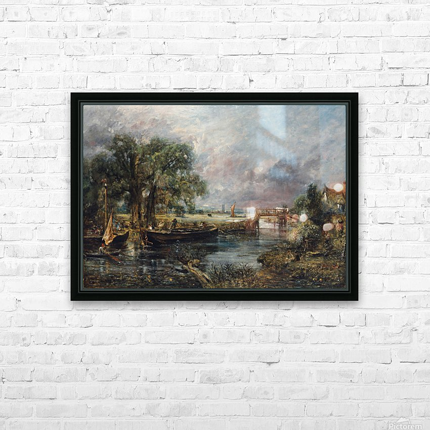 View on the River Stour HD Sublimation Metal print with Decorating Float Frame (BOX)