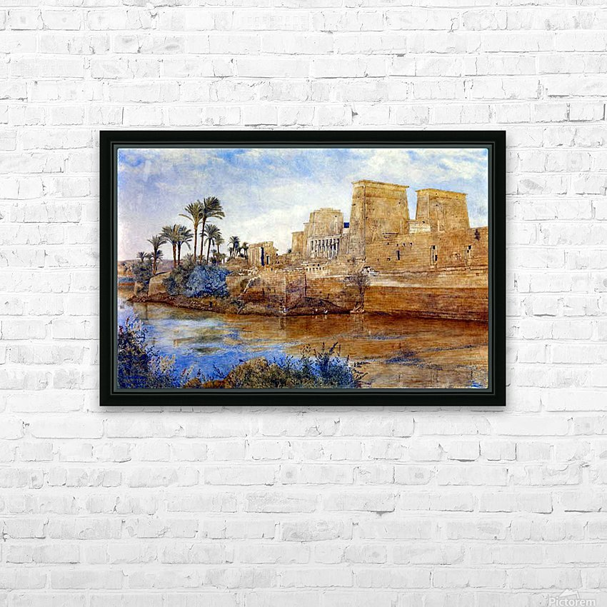 Philae from the Island of Biggeh, 1894 HD Sublimation Metal print with Decorating Float Frame (BOX)