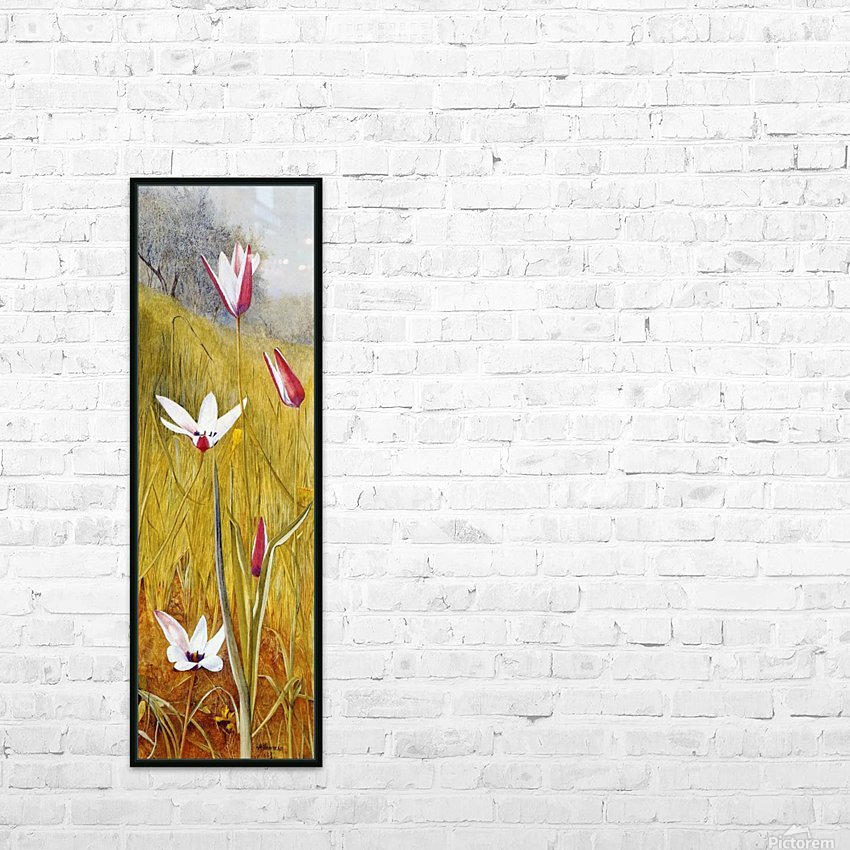 Flowers in a Landscape 1883 HD Sublimation Metal print with Decorating Float Frame (BOX)