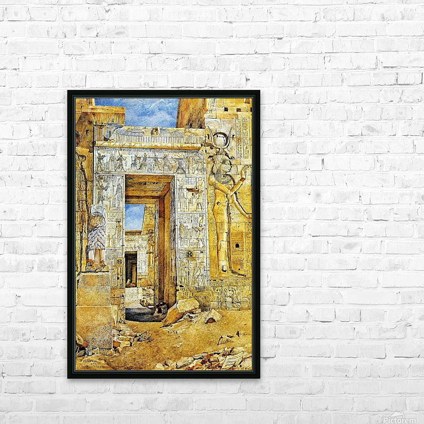 An Egiptian gate HD Sublimation Metal print with Decorating Float Frame (BOX)