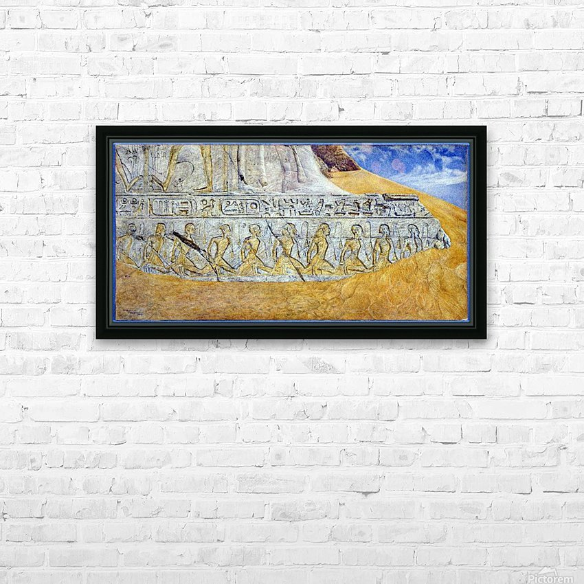 Captives of Ramses II HD Sublimation Metal print with Decorating Float Frame (BOX)