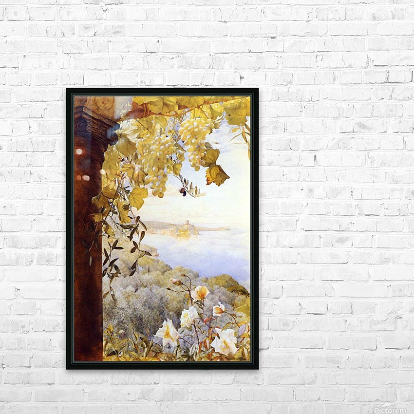 Grapes and flowers by the sea HD Sublimation Metal print with Decorating Float Frame (BOX)
