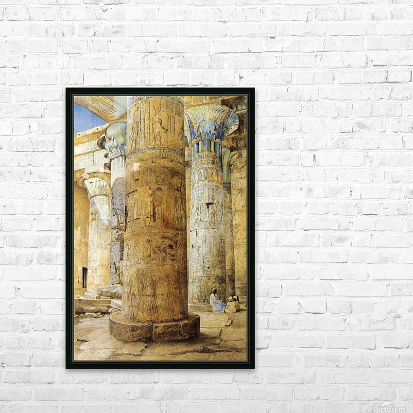 Interior of a temple HD Sublimation Metal print with Decorating Float Frame (BOX)