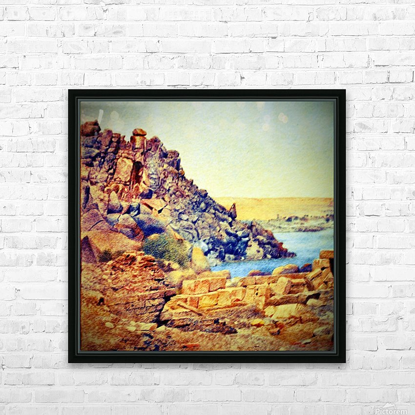 The Temple of Philae from the Outer Court HD Sublimation Metal print with Decorating Float Frame (BOX)