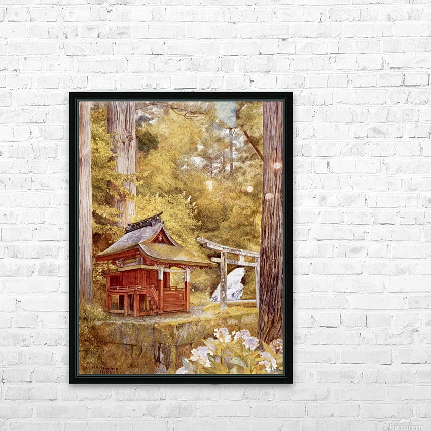 Japanese Pagoda In The Woods HD Sublimation Metal print with Decorating Float Frame (BOX)