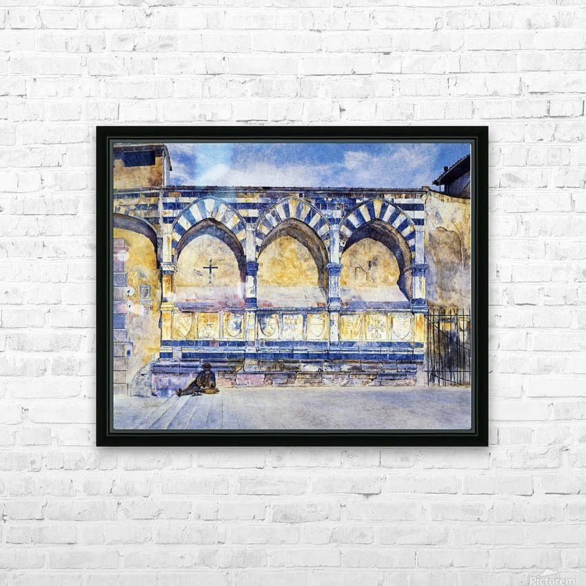 The Three Arches of Santa Maria Novella HD Sublimation Metal print with Decorating Float Frame (BOX)