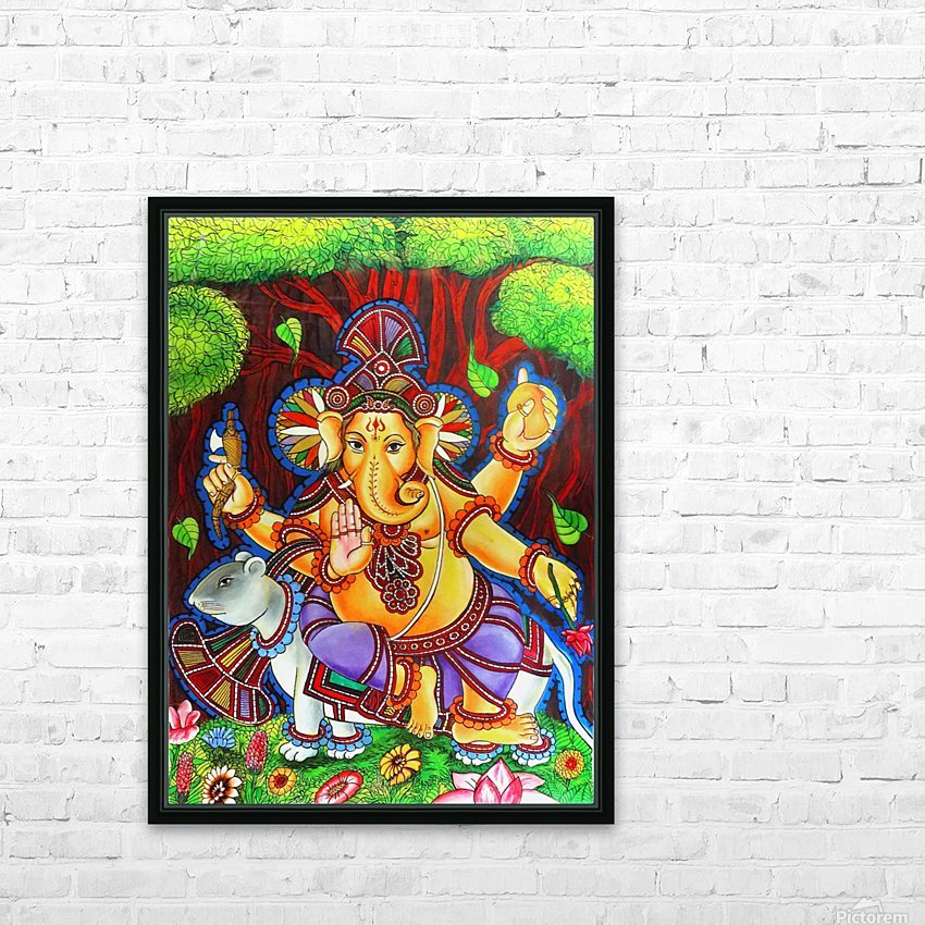 GANAPATHY MURAL HD Sublimation Metal print with Decorating Float Frame (BOX)