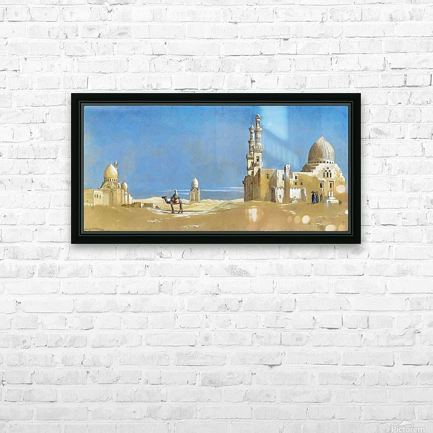 The Tombs of the Cailiffs, Cairo 1872 HD Sublimation Metal print with Decorating Float Frame (BOX)
