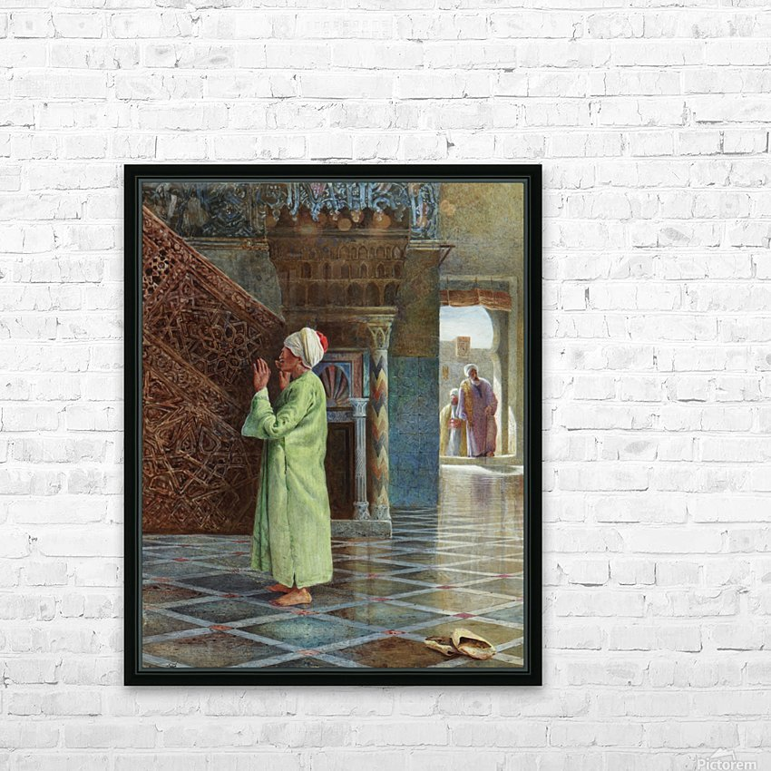 At prayer in the mosque HD Sublimation Metal print with Decorating Float Frame (BOX)