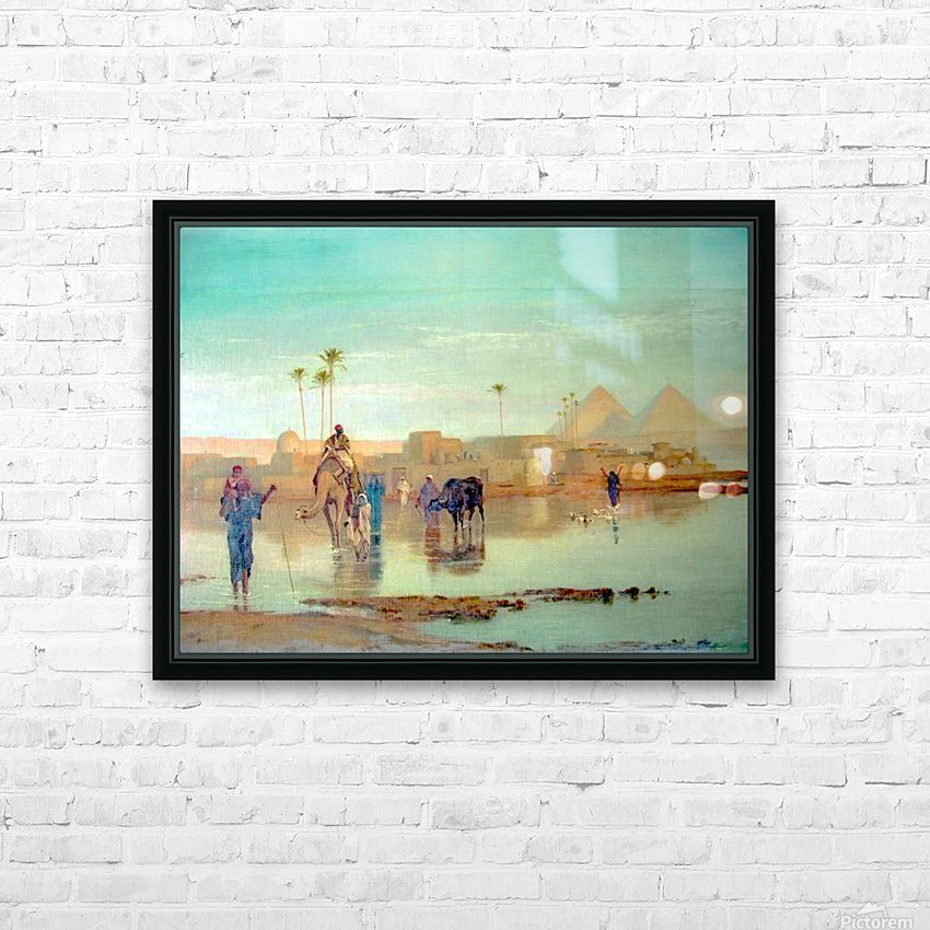 Nile overflow HD Sublimation Metal print with Decorating Float Frame (BOX)