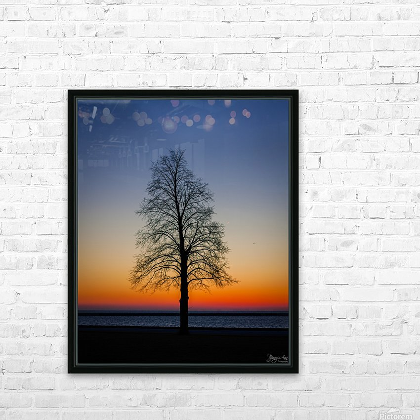Trees IV HD Sublimation Metal print with Decorating Float Frame (BOX)