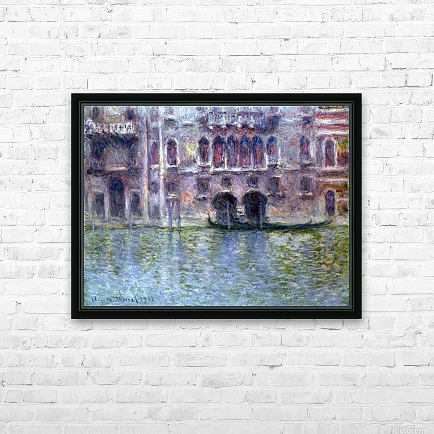 Palazzo da Mula, Venice by Monet HD Sublimation Metal print with Decorating Float Frame (BOX)