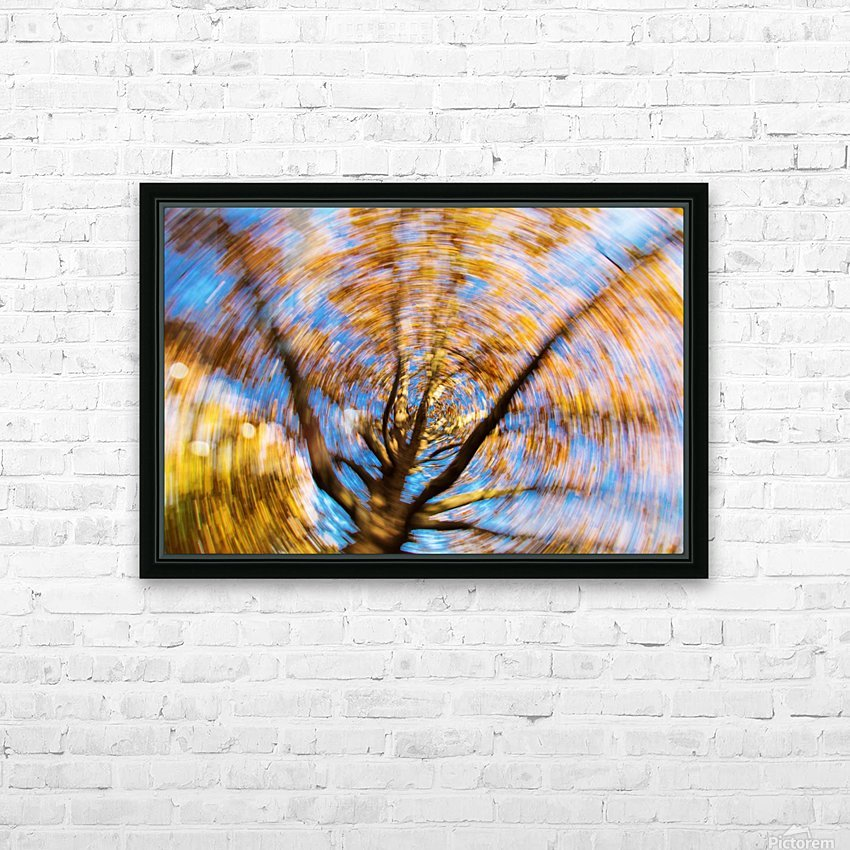 Autumn season in the middle of forest with colourful leaves HD Sublimation Metal print with Decorating Float Frame (BOX)