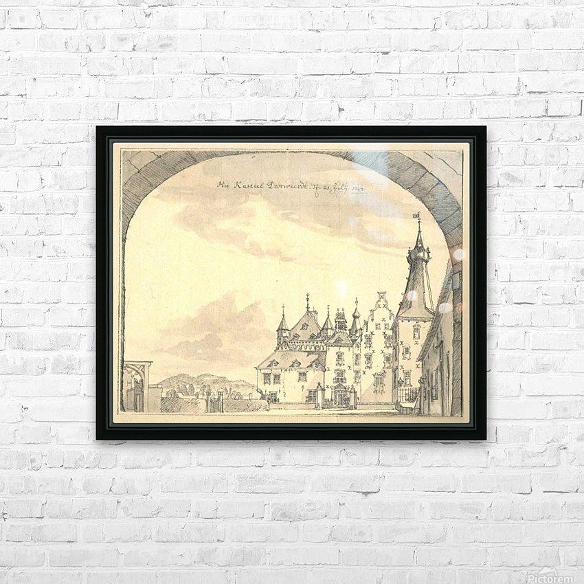 Kasteel Doorwerd 1744 HD Sublimation Metal print with Decorating Float Frame (BOX)