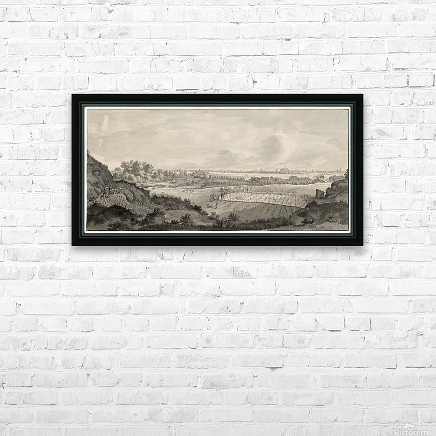 Bloemendaal Bleaching Fields with Haarlem in the Distance HD Sublimation Metal print with Decorating Float Frame (BOX)