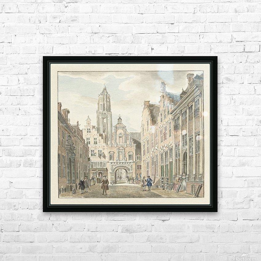 Nieuwstraat door HD Sublimation Metal print with Decorating Float Frame (BOX)