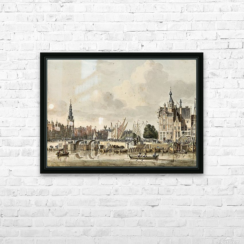 Boats in the harbour HD Sublimation Metal print with Decorating Float Frame (BOX)