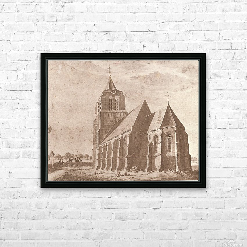 Kerk volgens HD Sublimation Metal print with Decorating Float Frame (BOX)