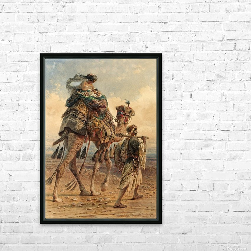 A family crossing the desert HD Sublimation Metal print with Decorating Float Frame (BOX)