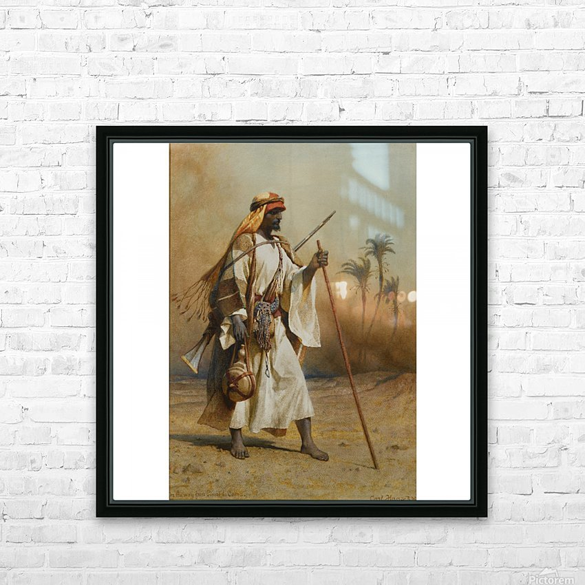 A warrior scouring the land HD Sublimation Metal print with Decorating Float Frame (BOX)