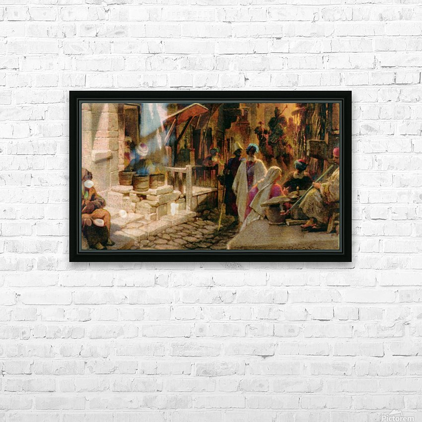 The Bazaar near Damascus HD Sublimation Metal print with Decorating Float Frame (BOX)