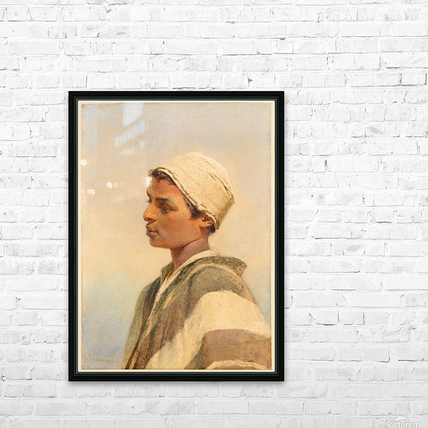 A Bedouin Boy HD Sublimation Metal print with Decorating Float Frame (BOX)