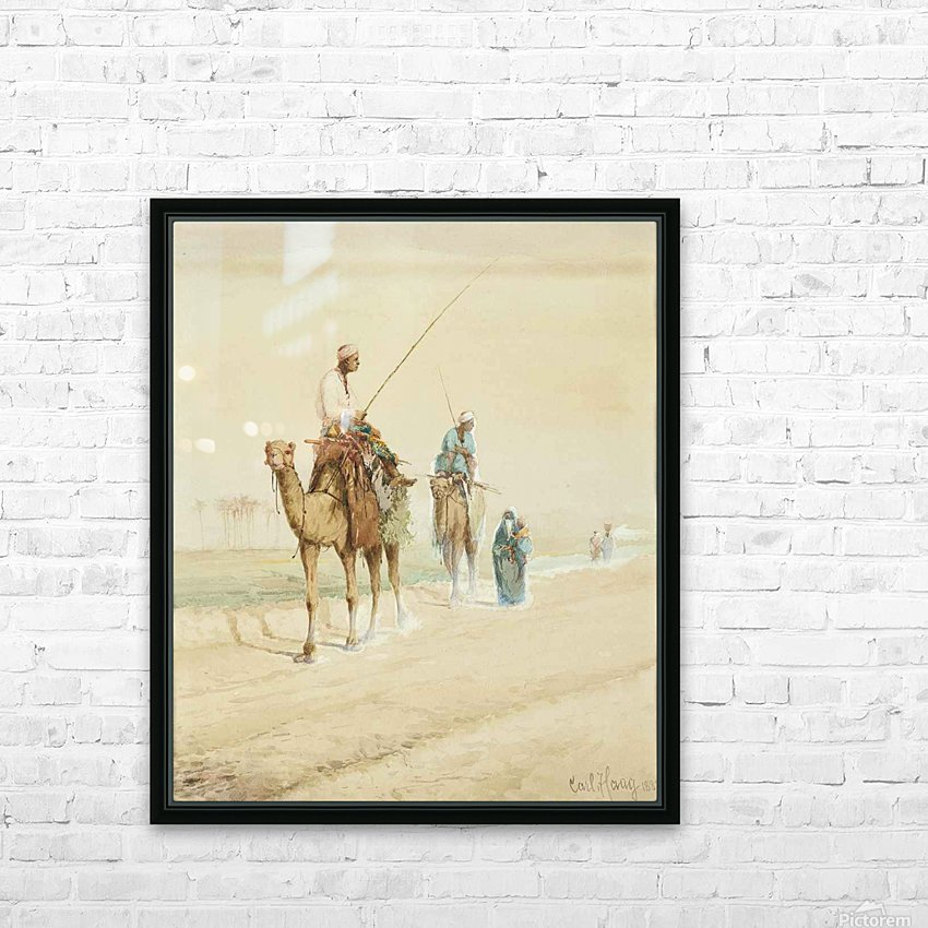 Arab travellers on an egyptian road HD Sublimation Metal print with Decorating Float Frame (BOX)