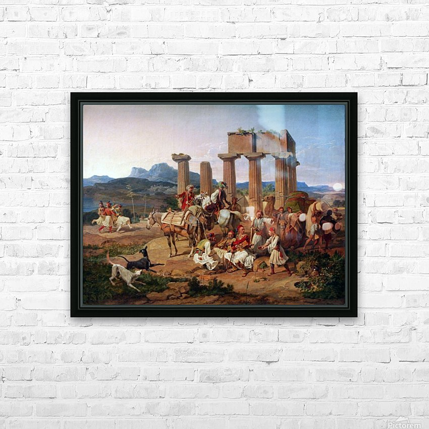 A caravan resting HD Sublimation Metal print with Decorating Float Frame (BOX)