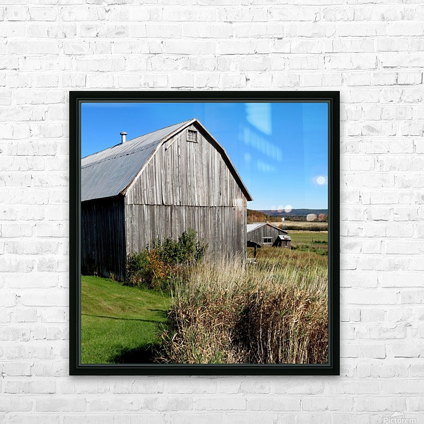 Cattle barn, Penobsquis, NB, Oct. 6, 2013 HD Sublimation Metal print with Decorating Float Frame (BOX)