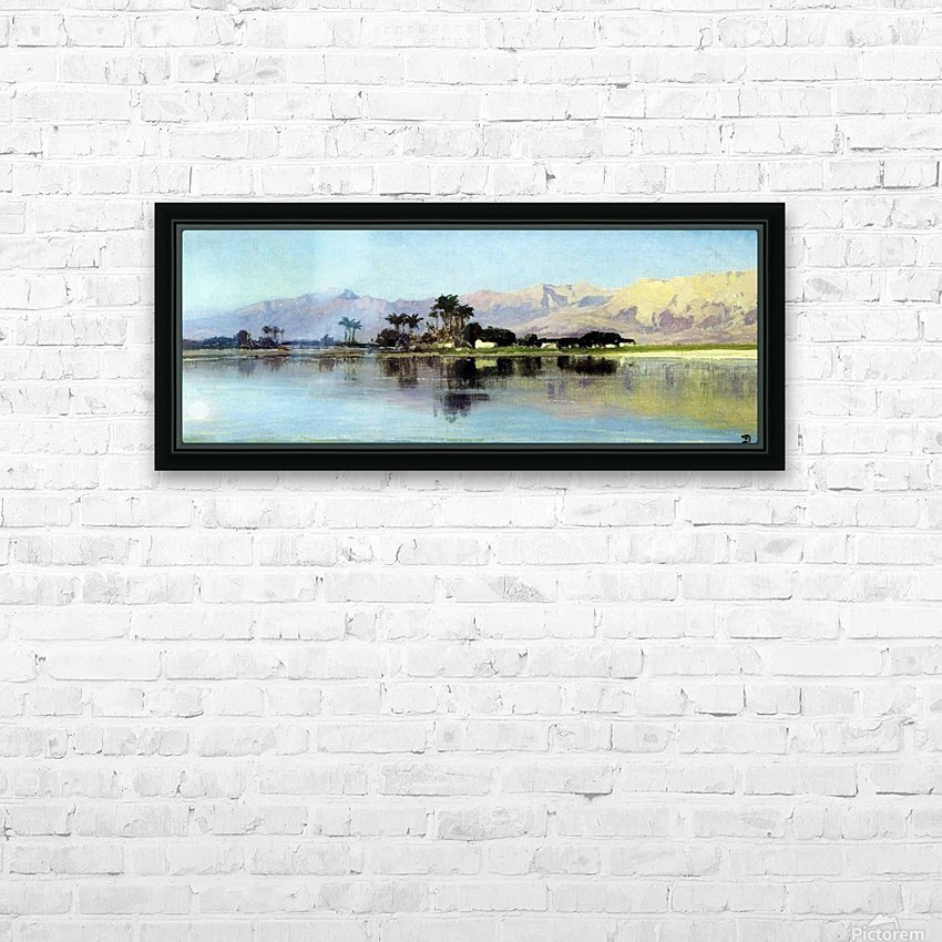 A distant island HD Sublimation Metal print with Decorating Float Frame (BOX)