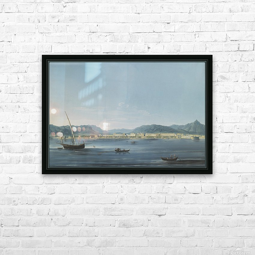 Three boats on the sea HD Sublimation Metal print with Decorating Float Frame (BOX)