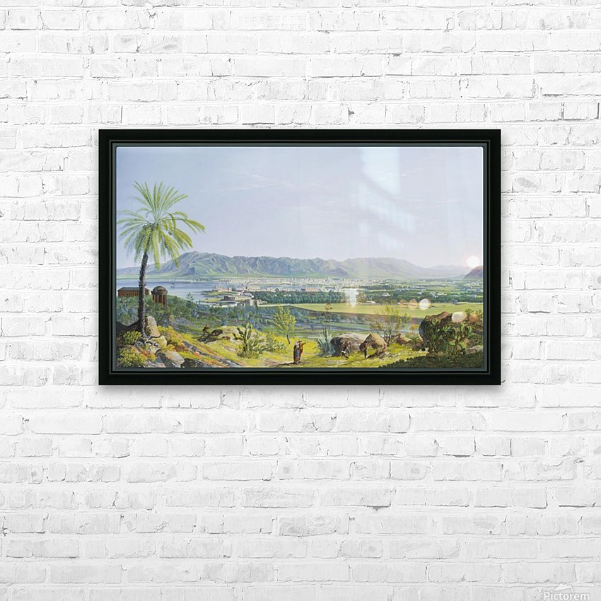 Landscape of Palermo HD Sublimation Metal print with Decorating Float Frame (BOX)