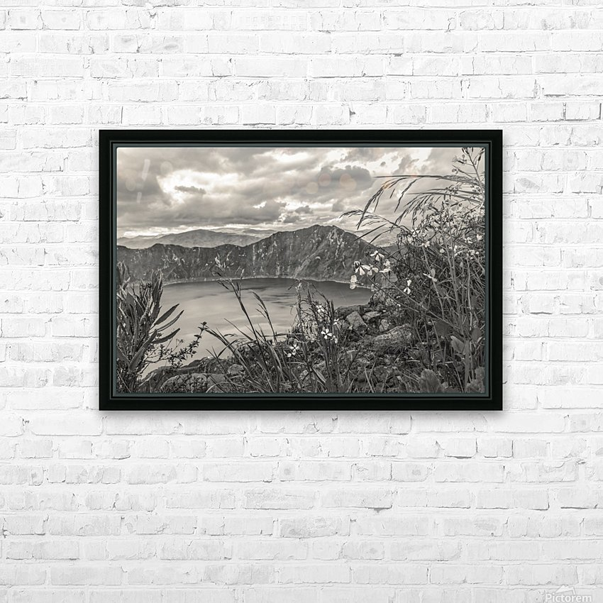 Quilotoa Lake Latacunga Ecuador HD Sublimation Metal print with Decorating Float Frame (BOX)