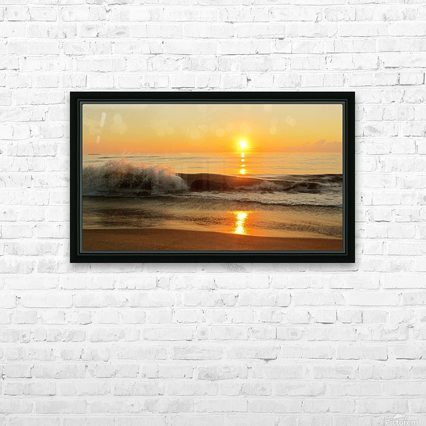 Ocean Rising HD Sublimation Metal print with Decorating Float Frame (BOX)