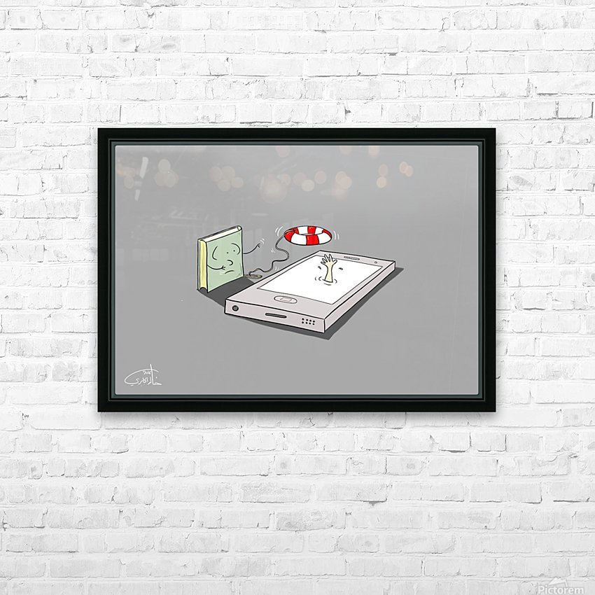 The Lifeguard HD Sublimation Metal print with Decorating Float Frame (BOX)