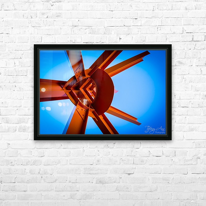 Abstract IV HD Sublimation Metal print with Decorating Float Frame (BOX)