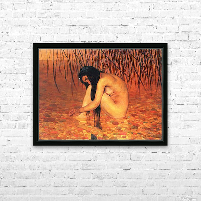 Bathing by Felix Vallotton HD Sublimation Metal print with Decorating Float Frame (BOX)
