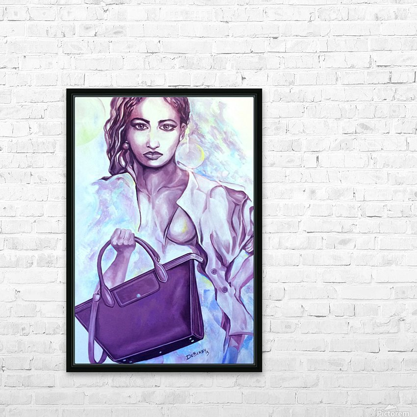 bag_lady_print HD Sublimation Metal print with Decorating Float Frame (BOX)