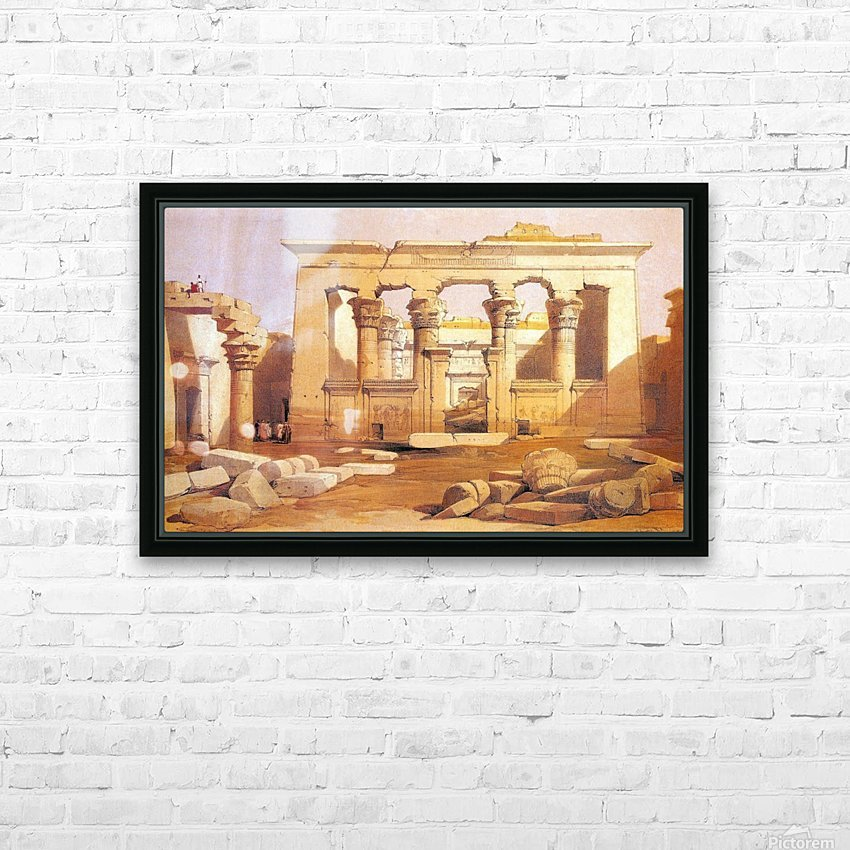 Ancient Egyptian civilization ruins with figures HD Sublimation Metal print with Decorating Float Frame (BOX)