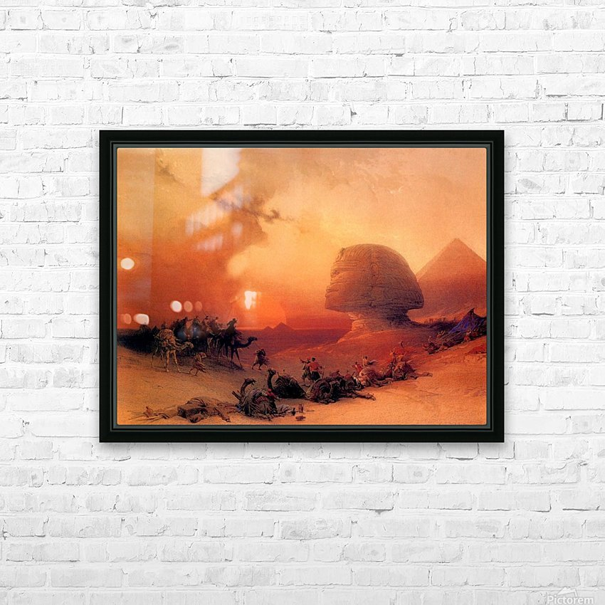The Sphinx at Giza HD Sublimation Metal print with Decorating Float Frame (BOX)