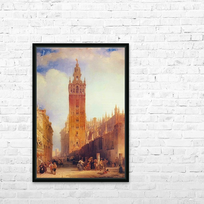 The Moorish Tower at Seville, called the Giralda HD Sublimation Metal print with Decorating Float Frame (BOX)