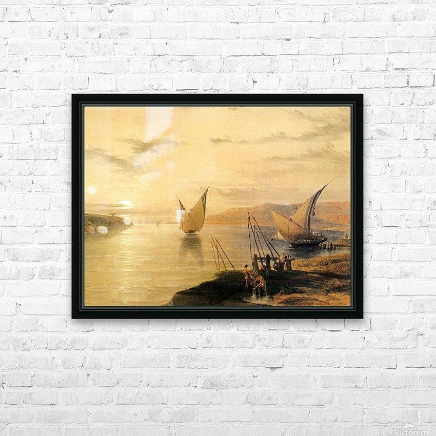 Gebel El Silsilis 1838 HD Sublimation Metal print with Decorating Float Frame (BOX)