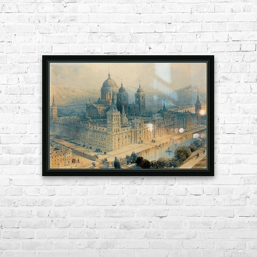 1836 The Palace of Escorial, Near Madrid, Spain HD Sublimation Metal print with Decorating Float Frame (BOX)