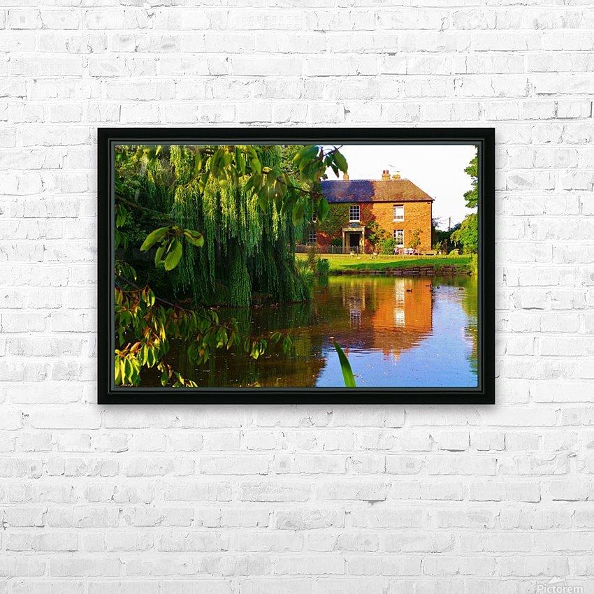 Fish pond Seckington HD Sublimation Metal print with Decorating Float Frame (BOX)