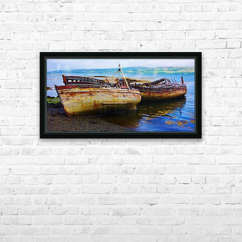 Three wrecks HD Sublimation Metal print with Decorating Float Frame (BOX)