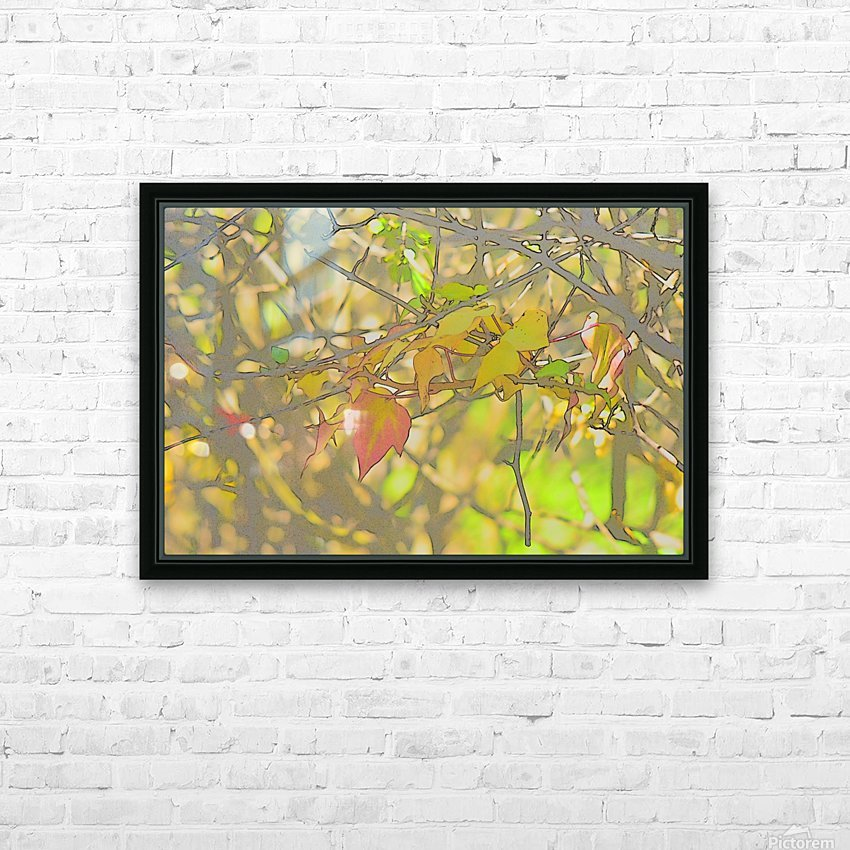 Leaves Macro 5 Abstract 2 HD Sublimation Metal print with Decorating Float Frame (BOX)