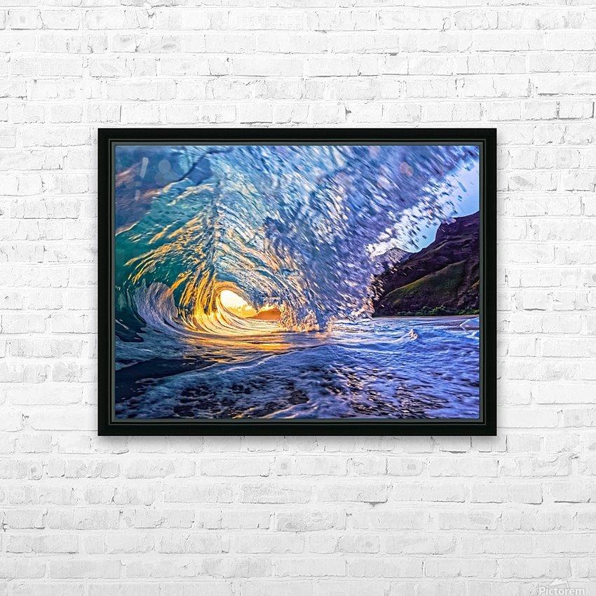 Kauai sunrise HD Sublimation Metal print with Decorating Float Frame (BOX)