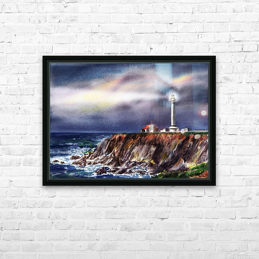 Lighthouse Point Arena At Night HD Sublimation Metal print with Decorating Float Frame (BOX)